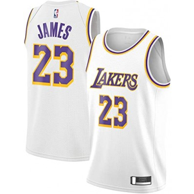 labron james white lakers jersey