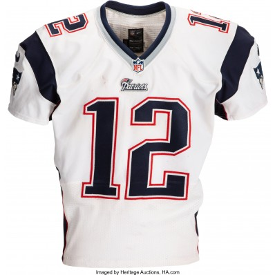 tom brady game issued jersey