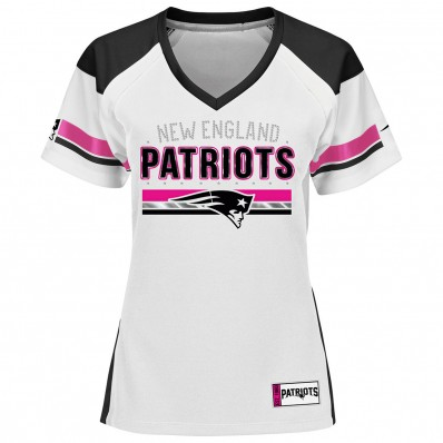 white and pink patriots jersey